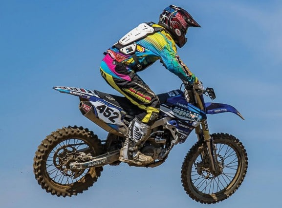 David Tremblay Champion Pro Open 450 , coureur de motocross